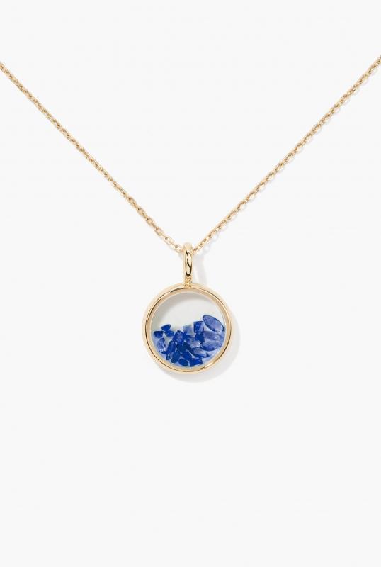 Blue Sapphires Mini Chivor Pendant