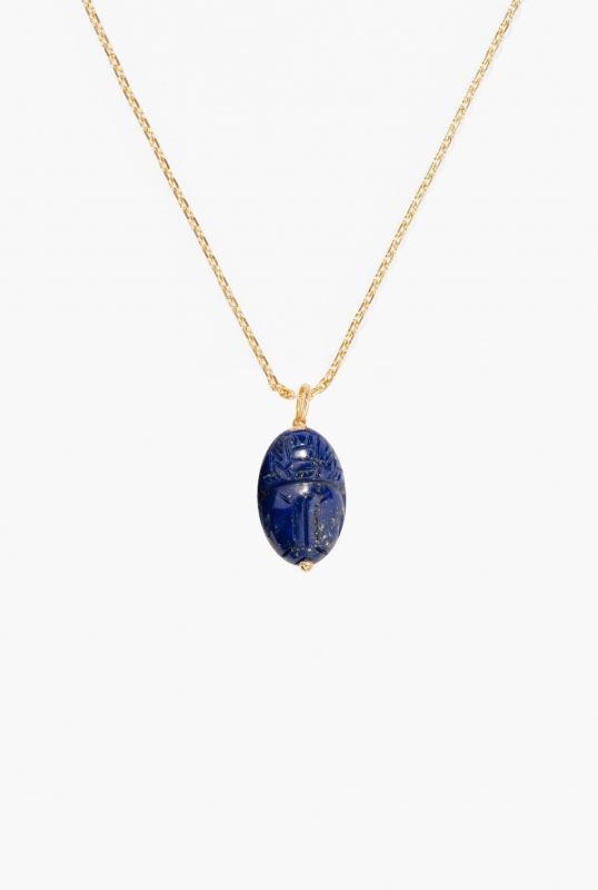 Medium Lapis lazuli Scarab pendant