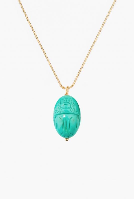 Large Turquoise Scarab pendant