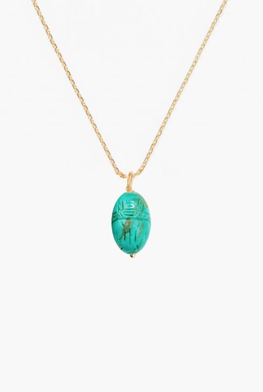 Medium Turquoise Scarab pendant