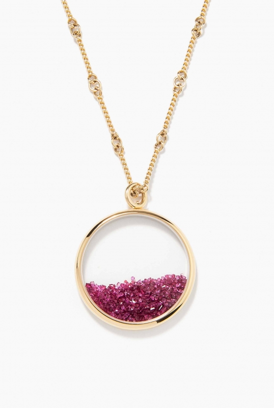 Rubies Chivor long necklace