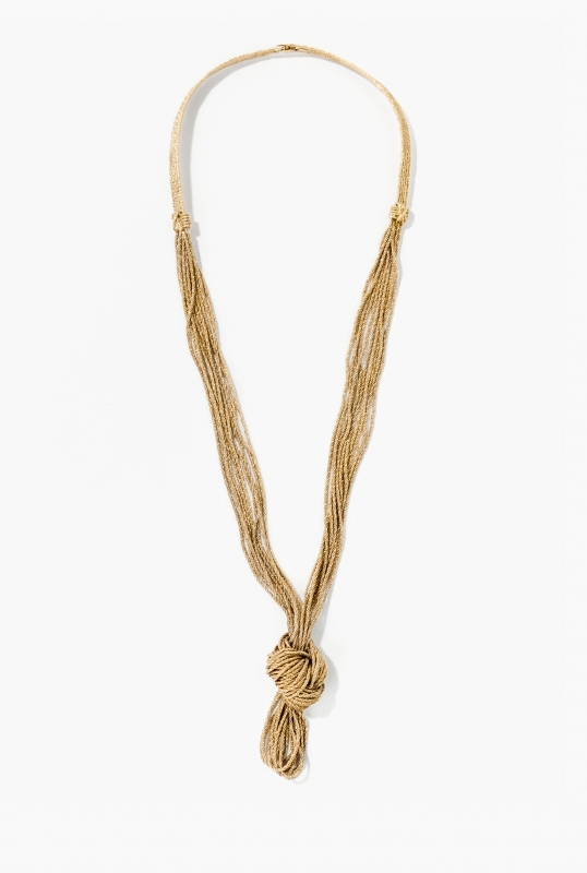 Knotted Miki long necklace