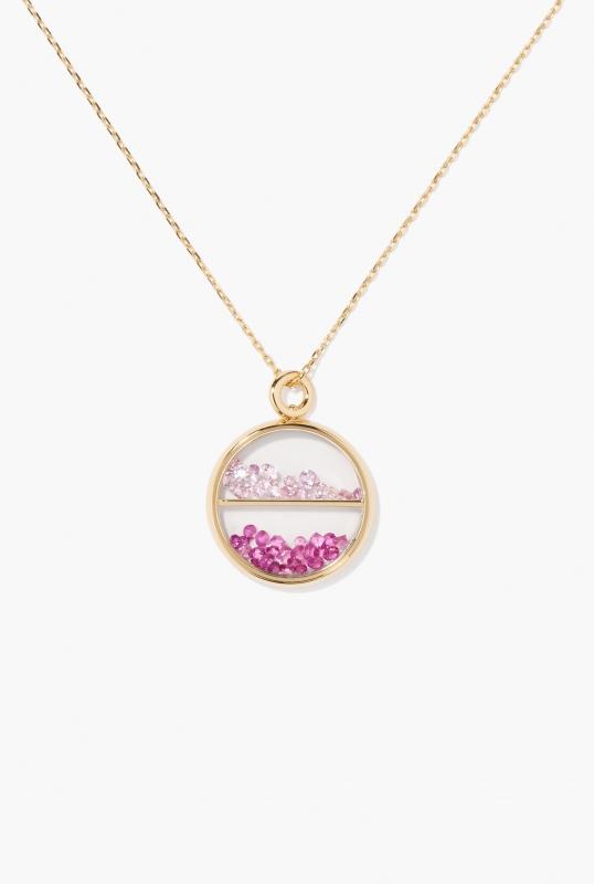 Pink light and dark Sapphires Baby Chivor pendant
