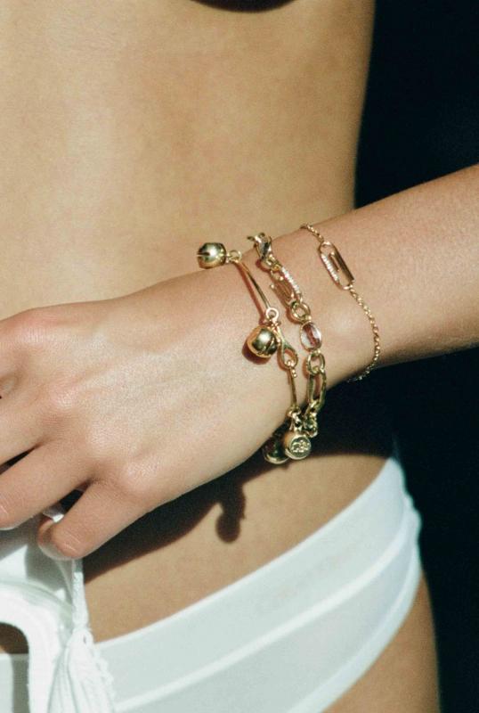 Bracelets Trombone, Grelot et Chaine Martelée