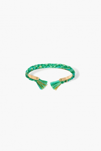 Green emerald Copacabana thin bangle