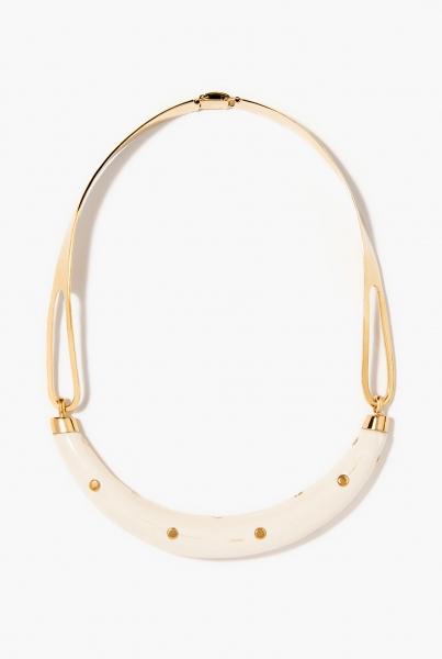 Studded Caftan Moon necklace