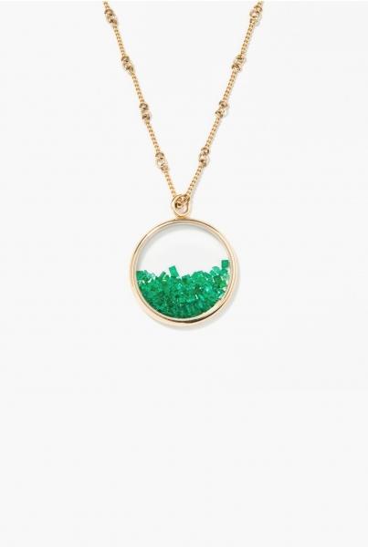Emeralds Chivor long necklace