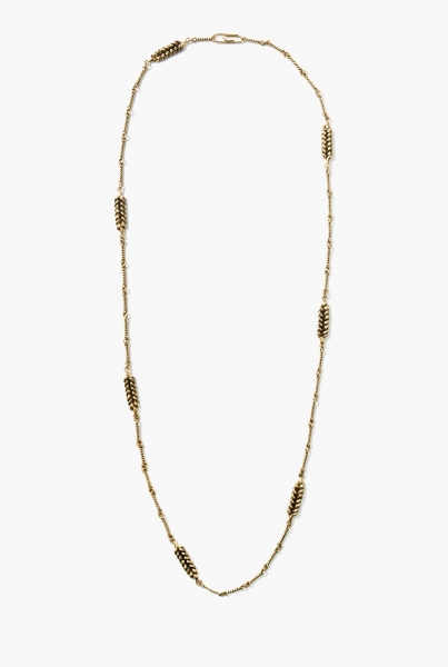 Wheat long necklace