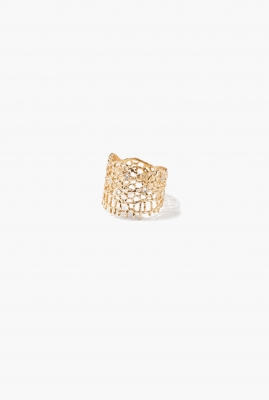 Yellow gold & diamonds Lace ring