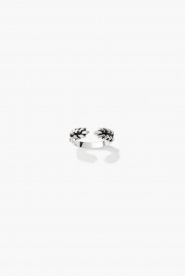 Silver You & I Wheat ring