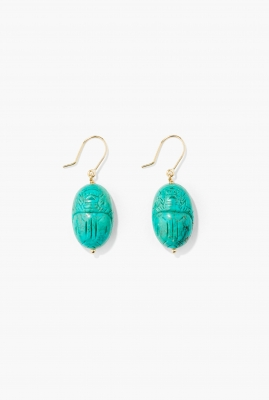 Turquoise Scarab earrings