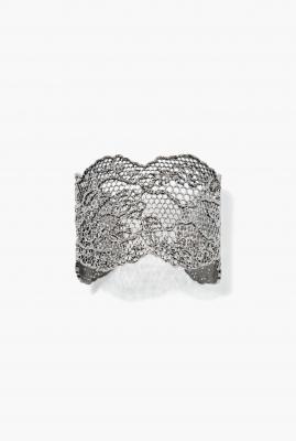 Black silver Vintage Lace bracelet