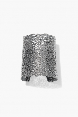 Black silver Vintage Lace cuff