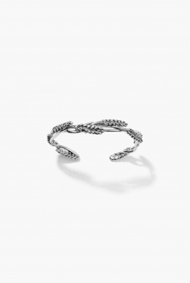 Silver Wheat bangle