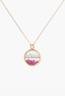 Diamonds and rubies Baby Chivor pendant