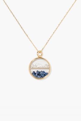Diamonds and blue sapphires Baby Chivor pendant