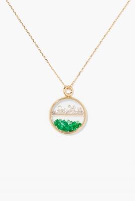 Diamonds and emerald Baby Chivor pendant