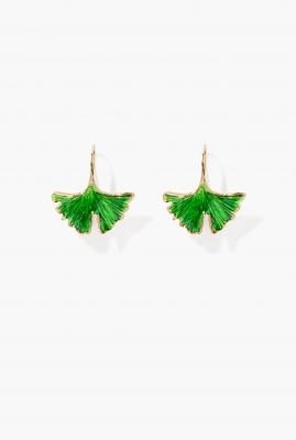 Green emerald Tangerine earrings