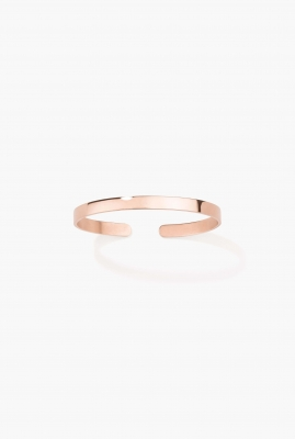 Rose vermeil engraved bangle