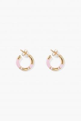 Baby pink Positano mini hoop earrings