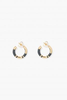 Grey Positano mini hoop earrings