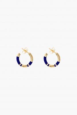 Blue lapis Positano mini hoop earrings