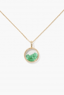EMERALDS MINI CHIVOR PENDANT