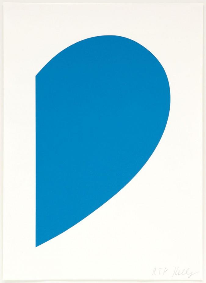 Ellsworth Kelly - Small Blue Curve, 2013