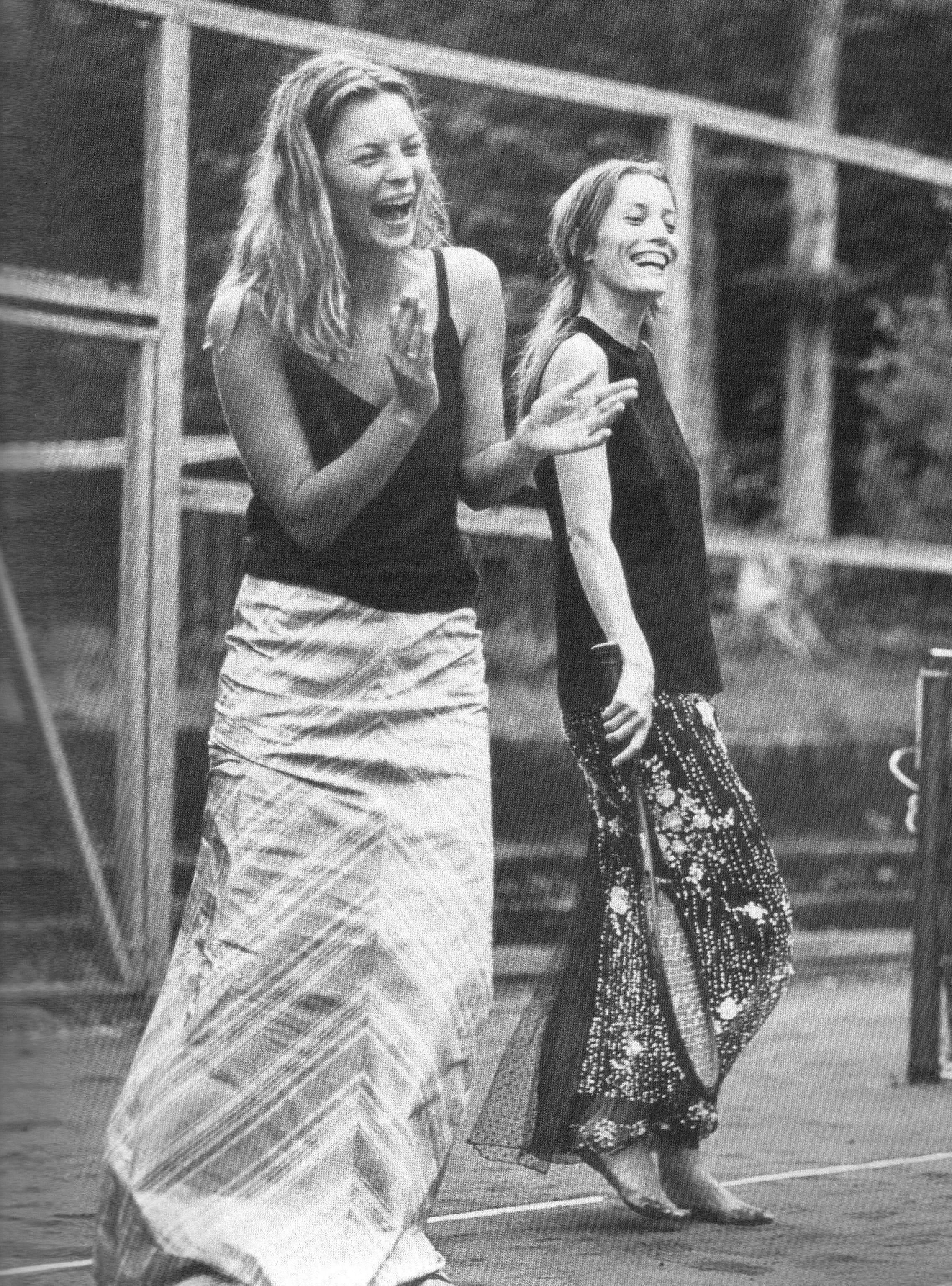 Katt Moss and Lucie de la Falaise by Bruce Weber, 1997