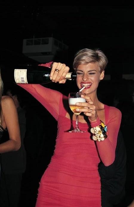 Linda Evangelista by Roxanne Lowit, 1990